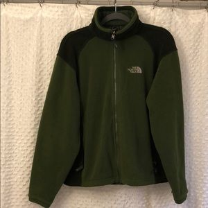 Green with green the north face fleece